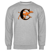 Grey Fleece Crew-Campbell Official Logo