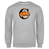 Grey Fleece Crew-C w/ Camel Head