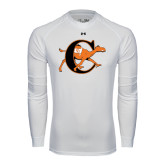 Under Armour White Long Sleeve Tech Tee-Campbell Official Logo