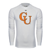 Under Armour White Long Sleeve Tech Tee-CU