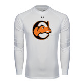 Under Armour White Long Sleeve Tech Tee-C w/ Camel Head