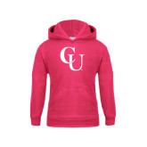 Youth Raspberry Fleece Hoodie-CU