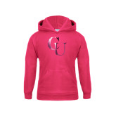 Youth Raspberry Fleece Hoodie-CU Foil