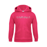 Youth Raspberry Fleece Hoodie-Rhinestone Campbell, Crystal Rhinestones