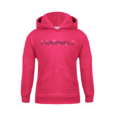 Youth Raspberry Fleece Hoodie-Rhinestone Campbell, Fuchsia Rhinestones
