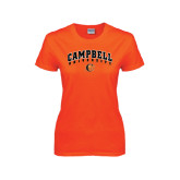 Ladies Orange T Shirt-Arched Campbell University