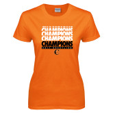 Ladies Orange T Shirt-2017 Southern Conference Wrestling