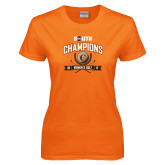 Ladies Orange T Shirt-2017 Big South Champions Womens Golf
