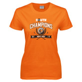 Ladies Orange T Shirt-2017 Big South Champions Mens Golf