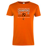 Ladies Orange T Shirt-2018 Mens Soccer Big South Champions