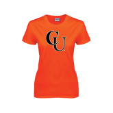 Ladies Orange T Shirt-CU