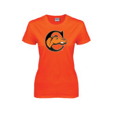 Ladies Orange T Shirt-C w/ Camel Head