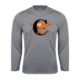 Performance Steel Longsleeve Shirt-Campbell Official Logo