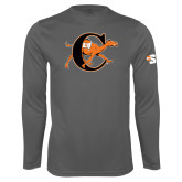 Performance Steel Longsleeve Shirt-Campbell Official Logo