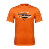Performance Orange Tee-Inside Football Ball Design