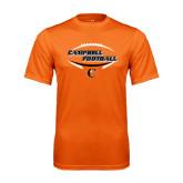 Performance Orange Tee-Inside Football Ball Design