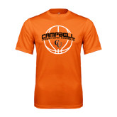 Performance Orange Tee-Basketball Ball Design