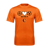 Performance Orange Tee-Just Kick It Soccer Design