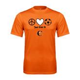 Performance Orange Tee-Just Kick It Soccer Design