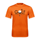 Performance Orange Tee-Golf Text Design