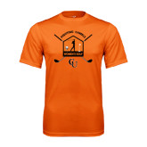 Performance Orange Tee-Golf Crossed Sticks Designs
