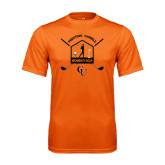 Performance Orange Tee-Golf Crossed Sticks Designs