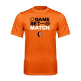 Performance Orange Tee-Game Set Match Tennis Design