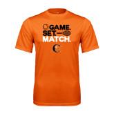 Performance Orange Tee-Game Set Match Tennis Design