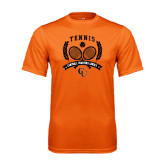 Performance Orange Tee-Crossed Tennis Design