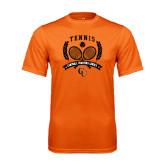 Performance Orange Tee-Crossed Tennis Design