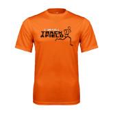 Performance Orange Tee-Track and Field Runner Design