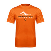Performance Orange Tee-Swimming Design