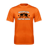 Performance Orange Tee-Wrestling Design