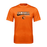 Performance Orange Tee-Lacrosse Stick Design