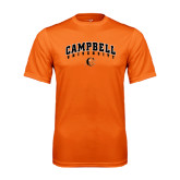 Performance Orange Tee-Arched Campbell University