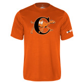 Performance Orange Tee-Campbell Official Logo