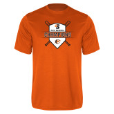 Performance Orange Tee-2018 Baseball Champions