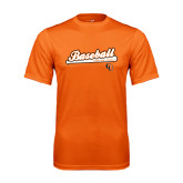Performance Orange Tee-Baseball Bat Design
