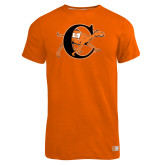 Russell Orange Essential T Shirt-Campbell Official Logo