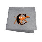Grey Sweatshirt Blanket-Campbell Official Logo