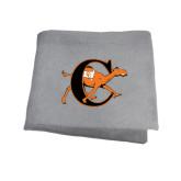 Grey Sweatshirt Blanket-Campbell Official Logo