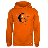 Russell DriPower Orange Fleece Hoodie-Campbell Official Logo