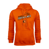 Orange Fleece Hoodie-Basketball Stacked Design