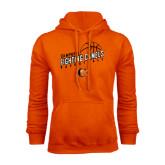 Orange Fleece Hoodie-Basketball Stacked Design