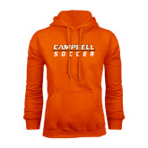 Orange Fleece Hoodie-Soccer Design