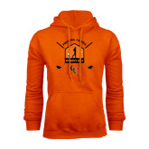 Orange Fleece Hoodie-Golf Crossed Sticks Designs