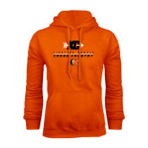 Orange Fleece Hoodie-Cross Country Design
