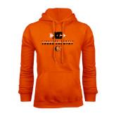 Orange Fleece Hoodie-Cross Country Design
