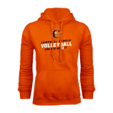 Orange Fleece Hoodie-Can You Dig It - Volleyball Design