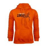 Orange Fleece Hoodie-Track and Field Runner Design